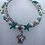 Thumbnail: Vintage Double Beaded Turtle Starfish Boho Anklet