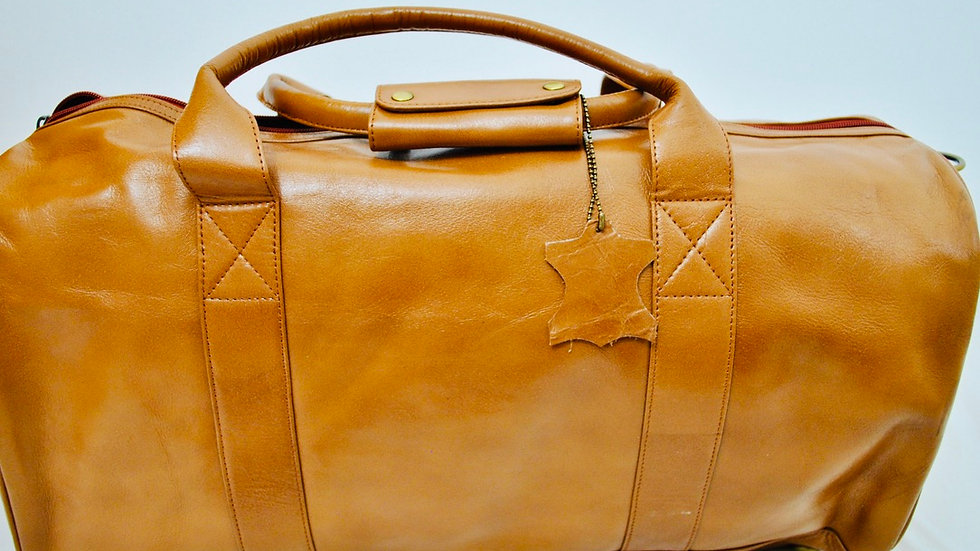 Duffel/ Travel/ Gym/ Weekender Travel, Gym or Weekend Leather Bag