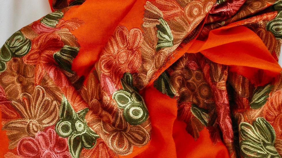 Vibrant Hand weaved pashmina