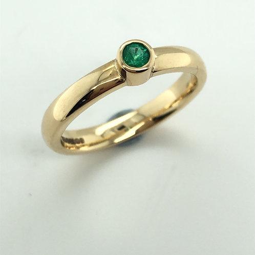 Emerald & Yellow Gold Ring
