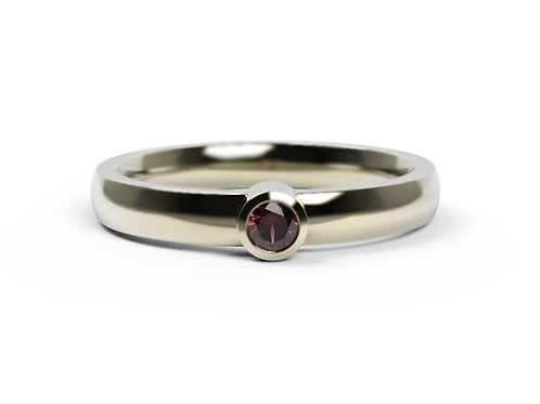 Fine Ruby & Yellow Gold Ring