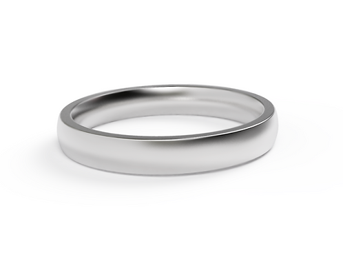 18ct White Gold Classic Wedding Band