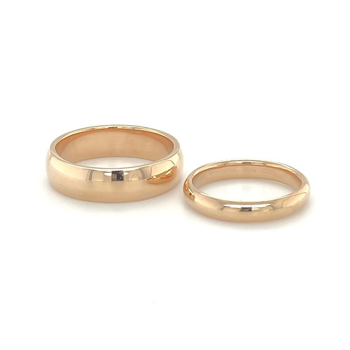 Rose Gold Traditional Court Wedding Bands