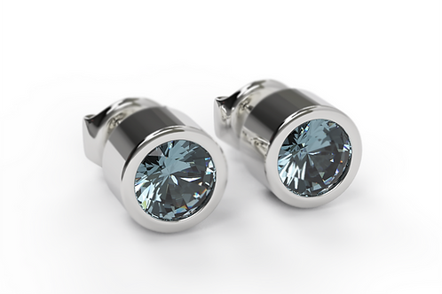 London Blue Topaz & Silver Studs