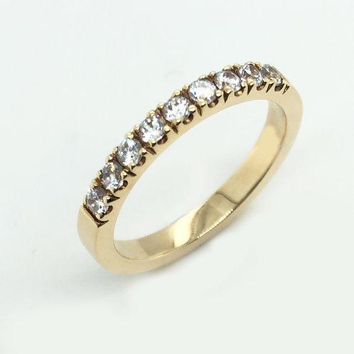 Diamond & 18ct Yellow Gold Castle set Wedding Band