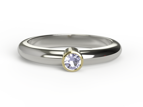 Tanzanite Gold & Silver Ring