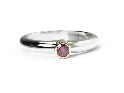 Ruby Gold & Silver Ring