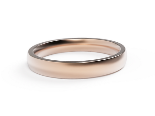 18ct Rose Gold Classic Wedding Band