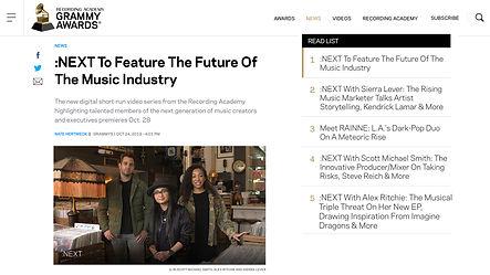 Grammy Next Announcement Press - Oct 201