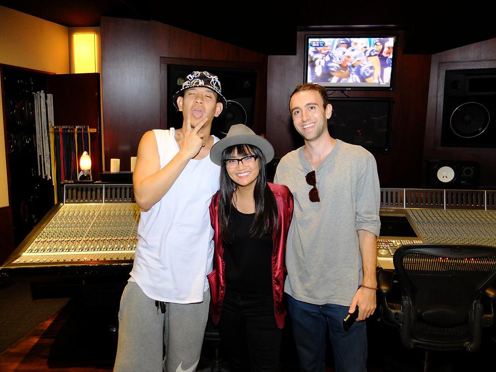 David, myself, and my co-writer Sammy Plotkin at Chalice Studios in Hollywood, CA
