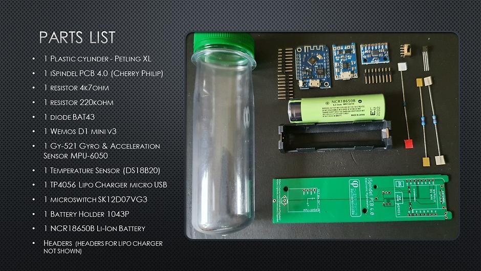 iSpindel DIY Parts Kit