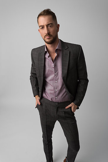 The Grey Checked Suit Blazer