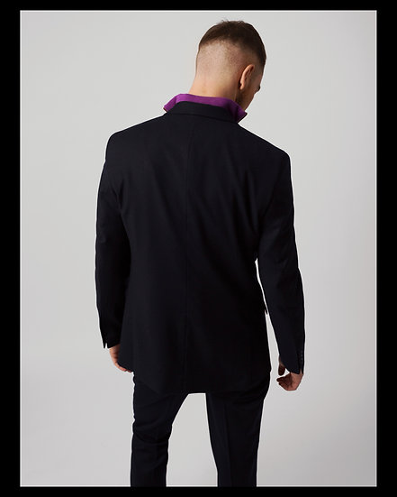 The Suit. Soft Navy Wool