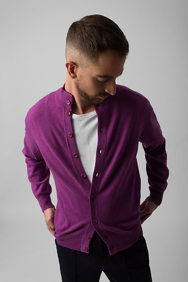 Soft Purple Cashmere Cardigan
