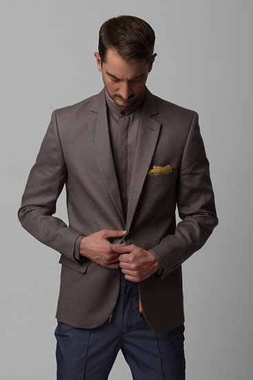 The Grey Linen Blazer