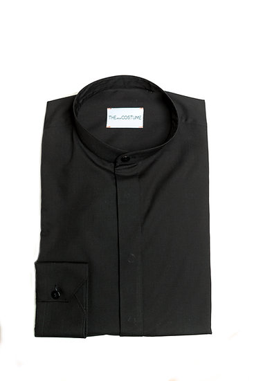The Black Mandarin Shirt