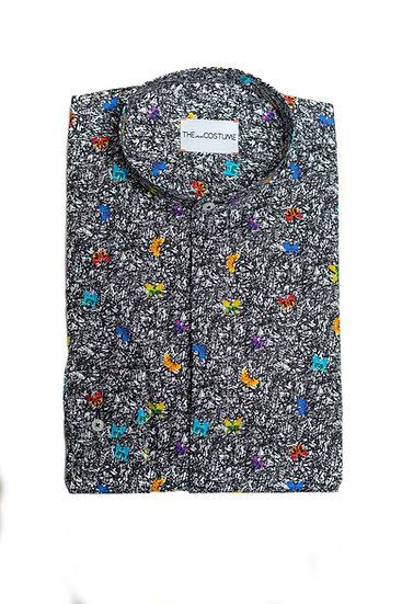 Butterfly Mandarin Shirt