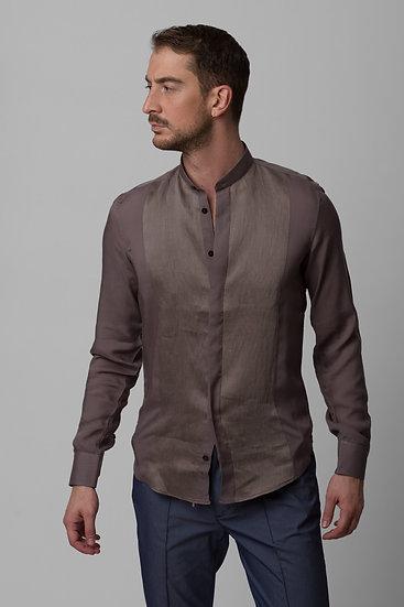 Grey Mandarin Shirt