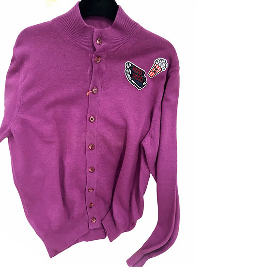 Soft Purple Cashmere Cardigan