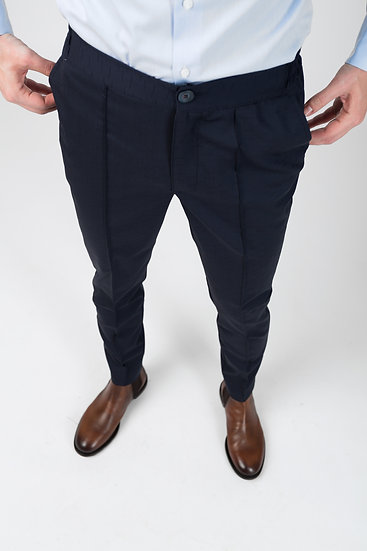The Navy Wave COOL Trousers
