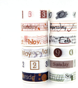 Day and Month Washi