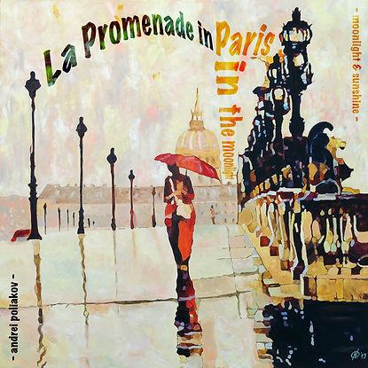 ArtWork La promenade in Paris in the Moo