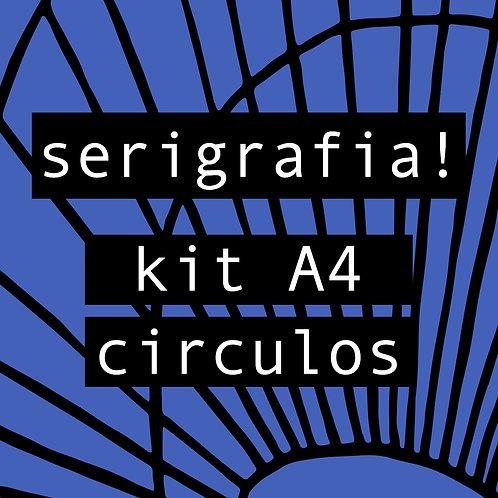 Kit serigrafia A4 circulos
