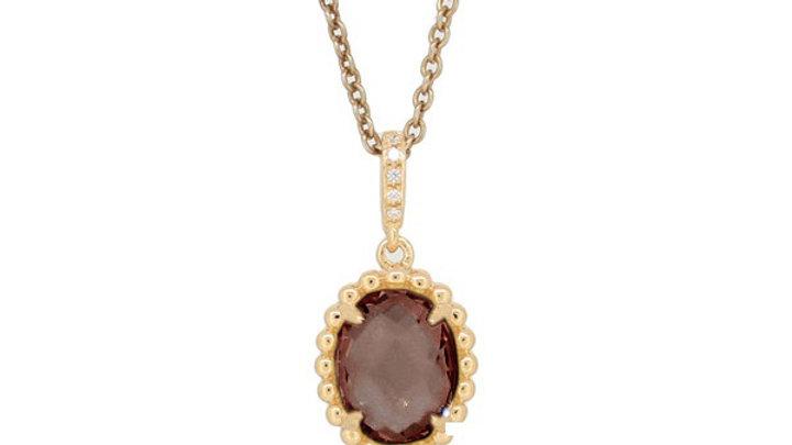Topaz and Diamond Pendant