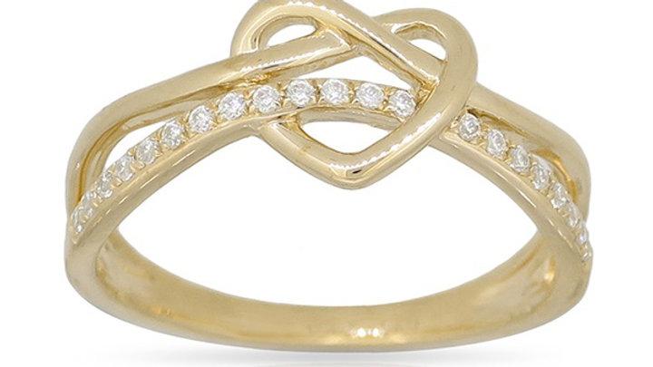 14K Yellow Diamond Ring