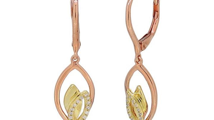 Diamond Leaf Earring