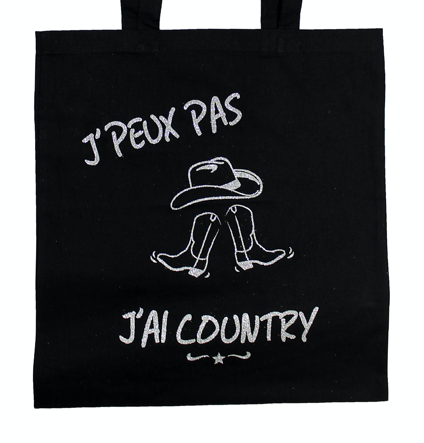 "Tote Bag ""J'peux pas j'ai Country"""