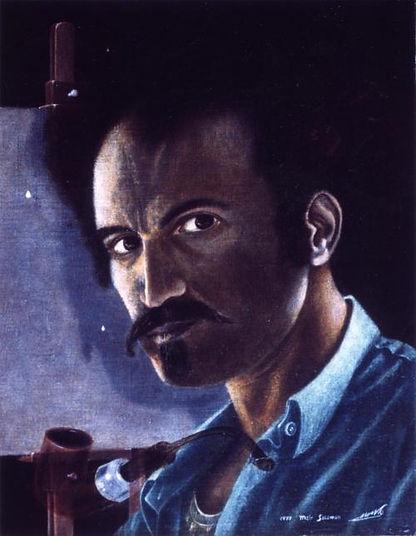 Self portrait painting - Meir Salomon