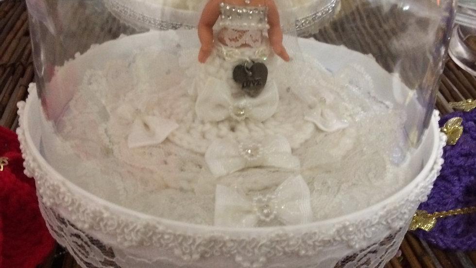 Decorative Doll Pedestals W/Clear Lid(small)