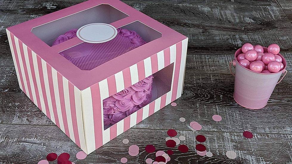Pink & White Stripped Duo Window Box
