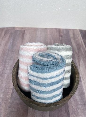 Striped Towel Hair Wrap