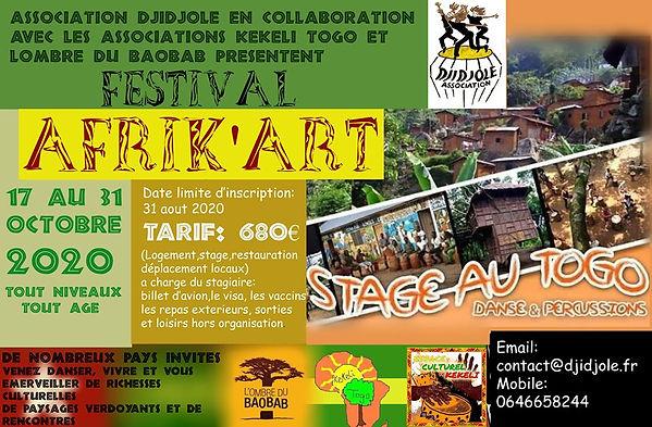 Projet animation ayi-perku voyage au Togo