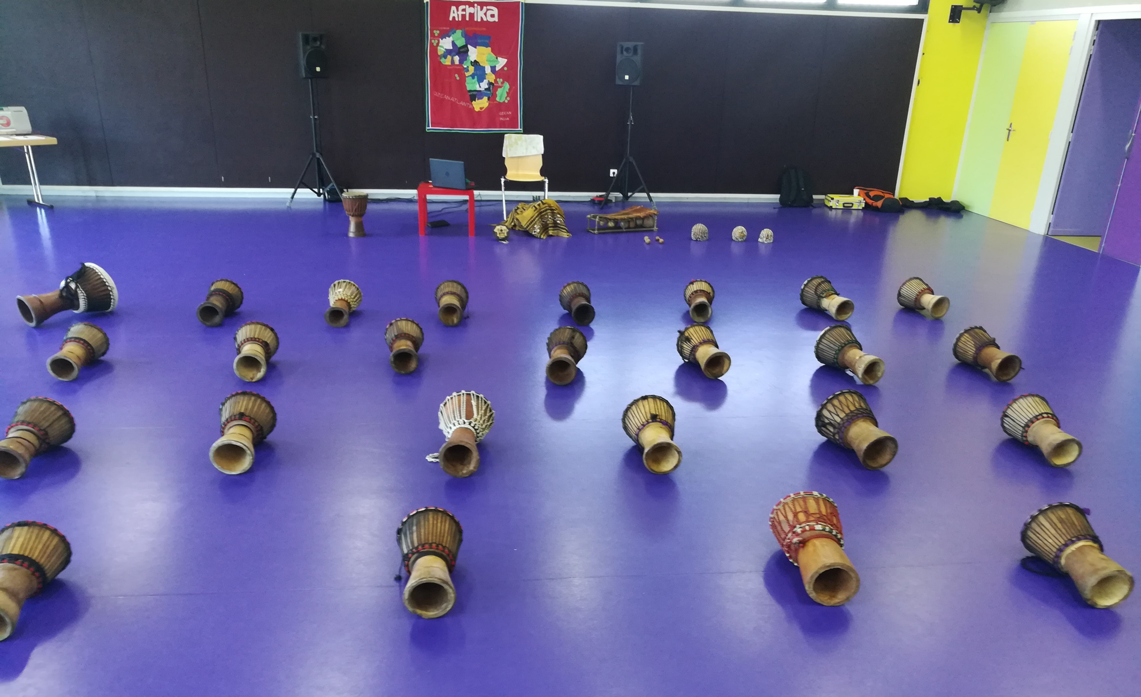 Initiation percussions 20 pers max
