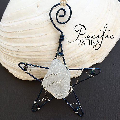 Sea Glass Kodiak Sea Star - Large White