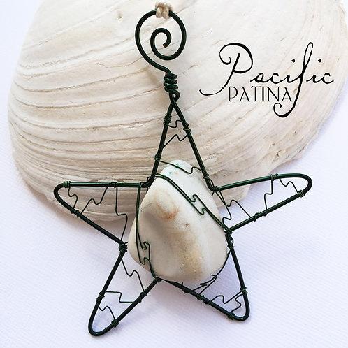 Sea Pottery Kodiak Sea Star - Tan & Green