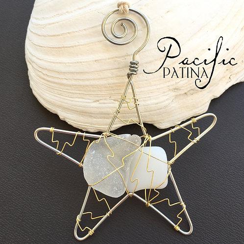 Sea Glass Kodiak Sea Star - White & Milk White
