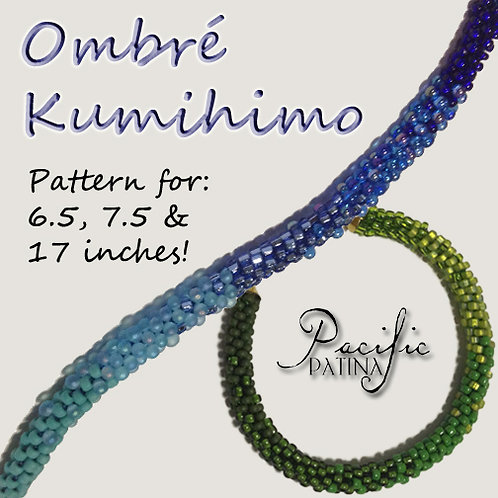Ombre Kumihimo Pattern