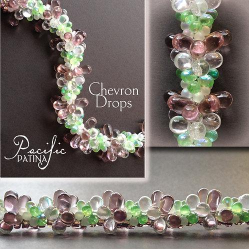 Chevron Drops & Chevron Fringe Kumihimo Pattern