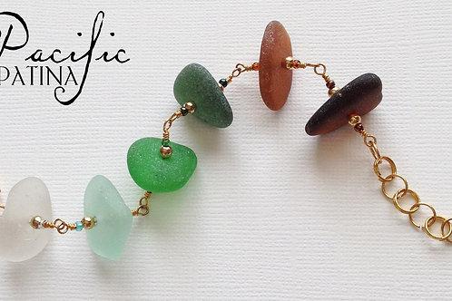 Jewel Beach Sampler Sea Glass Bracelet
