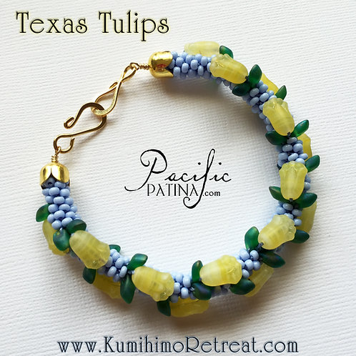 Texas Tulips Kumihimo Pattern & Tutorial
