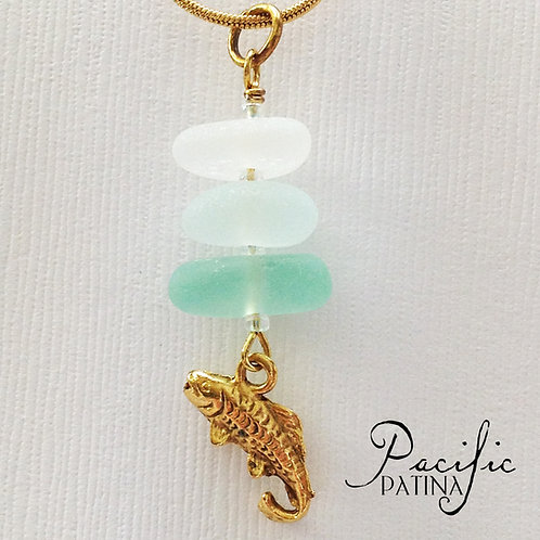 3 Piece Ocean Colors Sea Glass Stack
