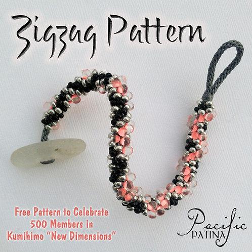 Long Zigzag Kumihimo Pattern