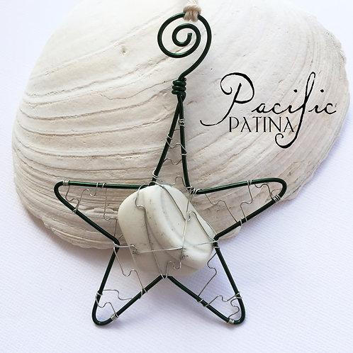 Sea Pottery Kodiak Sea Star - White & Green