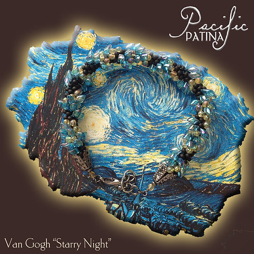 Starry Night (Van Gogh) Kumihimo Pattern