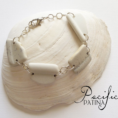 Sea Pottery Links Bracelet  - Silver