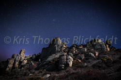 Moonlit stones